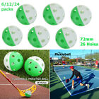 72mm Plastic Airflow Ball Floorball Hollow Golf Wiffle Ball Pickleball Practice