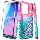 For Samsung Galaxy S20 Plus S20 Ultra 5G Case Liquid Glitter Bling Soft Cover