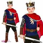 Boys Deluxe Medieval King Costume Arthur Knight Child Kids Fancy Dress Outfit