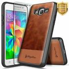 For Samsung Galaxy J2 Prime/Grand Prime Case Leather Phone Cover +Tempered Glass