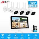 """ANRAN Wireless Home CCTV Security Camera System Outdoor 8CH 1TB HDD 12"""" Monitor"""