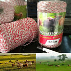 500 Meters Electric Fence Poly Wire Red White Polywire with Steel Wire Poly