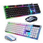 Computer Desktop Gaming Keyboard And Mouse LED Colorful Backlit Mechanical Feel