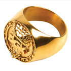 "DGK Dirty Ghetto Kids ""Reptile"" Ring (Gold) Men's Skate Jewelry Ring"
