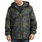 Dickies Fleece Lined Nylon Hooded Windbreaker Men's Zip Up Jacket Style # 33238