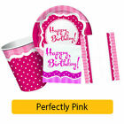 PERFECTLY PINK Birthday Party Range - Tableware Balloons & Decorations {CP}