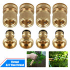 Garden Hose Quick Connect Solid Brass Quick Connector Garden Hose Fitting 3/4''