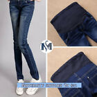 pregnant Woman Maternity Pant Jeans Blue Casual  Stretchy Cotton Nursing Trouses