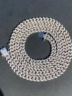Kyпить 6mm Miami Cuban Iced Solid 925 Silver Chain Necklace 16