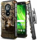 For Motorola Moto e5 (XT1920DL) Case, Belt Clip Holster Phone Cover + Kickstand