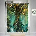 Forest Fairy Tales Shower Curtain Polyester Fabric 36x72 In Bath Curtain & Hooks
