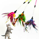 multicolored pet toy paper stipe spiral feather cat teaser sticks ball mouse  FJ