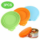 Set of 4/3Pcs Pet Food Can Cover Silicone Reusable Cap Can Lids for Dog Cat Food