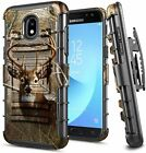 For Samsung Galaxy J3 Orbit/Star/Achieve Holster Case Belt Clip Phone Cover