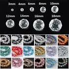 3mm 4mm 6mm 8mm 10mm 12mm Ab Rondelle Faceted Crystal Glass Loose Beads Lot