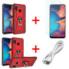 For Samsung Galaxy A50 A20 A30 A10e Phone Case Cover With Glass Screen Protector