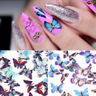 50Pcs Colorful Butterfly Nail Glitter Sequins Flakies Paillette Nail Art Decors