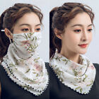 Women Summer Neck Scarf Sun Outdoor Riding Silk Face Scarf Handkerchie