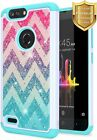 For ZTE Blade Z Max Case Bling Diamond Soft Rubber Phone Cover +Screen Protector