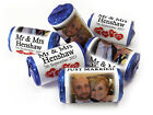 V3_Personalised Mini Love Heart Sweets, Weddings Image-Different Foil Mr & Mrs