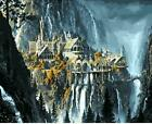 Lord of the Rings Waterfall City Painting Artwork Paint By Numbers Kit DIY