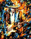 Stevie Ray Vaughan Playing Guitar Abstract Painting Paint By Numbers Kit DIY