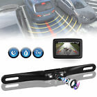 License Plate Mount Reverse Rear Night View Color Car Backup Camera Waterproof