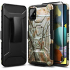 For Samsung Galaxy A51 Case Armor Belt Clip Holster Phone Cover + Tempered Glass