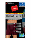Hanes Men Boxer Briefs 4-Pack Comfort Flex Fit Ultra Soft Cotton Stretch FreshIQ