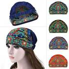 Chinese Ethnic Style Turban Hat Cap Head Wrap Scarf Beanie Embroidered Floral