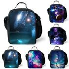Galaxy Starry Sky Insulated Lunch Bag Box Pack Kid Boy Girl's School Food Picnic