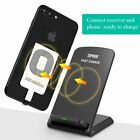 For Apple iphone 11 Xs Max 8 7 6s Plus Qi Wireless Fast Charger Stand + Receiver