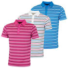 Bobby Jones Mens Rule 18 Tech Riviera Stripe Stretch Golf Polo Shirt 59% OFF RRP