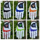 6 Men's Golf Gloves Different Colours 100% Leather Right Handed Golfer LH Glove