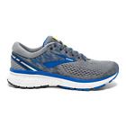 Brooks Ghost 11 Running Shoes, Men's Size 12.5 Medium (D), Grey/Blue/Silver NEW
