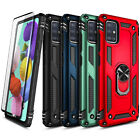 For Samsung Galaxy A71 5G Case Ring Stand Phone Cover + Tempered Glass Protector