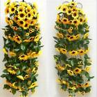 Artificial Fake Sunflowers Flowers Bouquet Decor For Wedding Party Home Us