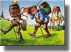 Beer Keg and Men Hiking Picture on Stretched Canvas, Wall Art Décor, Ready to Ha