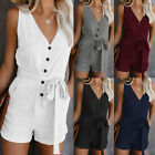 Women Summer Sleeveless Shorts Jumpsuit Playsuit Beach Holiday Rompers Playsuit