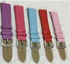10-22mm Pu Leather Watch Band Solid Strap Men Women Fashion Watchband Accs.
