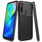For Motorola Moto G Fast Case Ultra Slim Thin Fit Carbon Fiber TPU Phone Cover