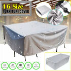 Silver Outdoor Furniture Cover Garden Patio Rattan Table Cover Waterproof Cover