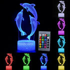 Dolphin 3D LED Night Lights Table Desk Lamp 7/16 Colours Changing Kids Xmas Gift