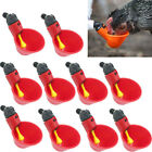 10/20pcs Automatic Chicken Quail Pigeon Drinker Poultry Summer Drinking Bowl