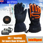 AU Rechargeable Waterproof Touch Screen Motorcycle Electric Heated Gloves щ