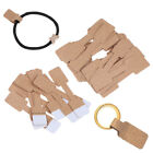50/100Pcs Quadrate Blank Price Tags Necklace Ring Jewelry Labels Paper Stick WP4