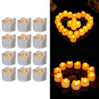 12pcs Remote Control Home Flameless Battery Powered Easter Candle Light Timing