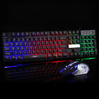 Computer Gaming RGB Keyboard And Mouse LED Colorful Backlit Ergonomic Design