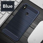 For Xiaomi Redmi Note 5 6 Pro Mi 8 9 Lite Shockproof Carbon Fiber Brushed Case
