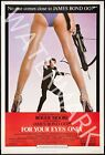 For Your Eyes Only - 1981 Roger Moore - James Bond Movie Poster $24.95 AUD on eBay
